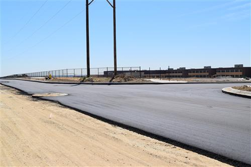Paving of 136th Avenue was started on July 13.