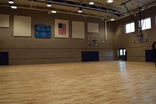Both gyms for the middle school have new wood floors installed.