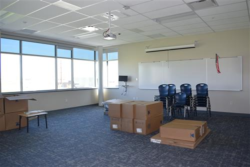Furniture is being moved into classrooms.