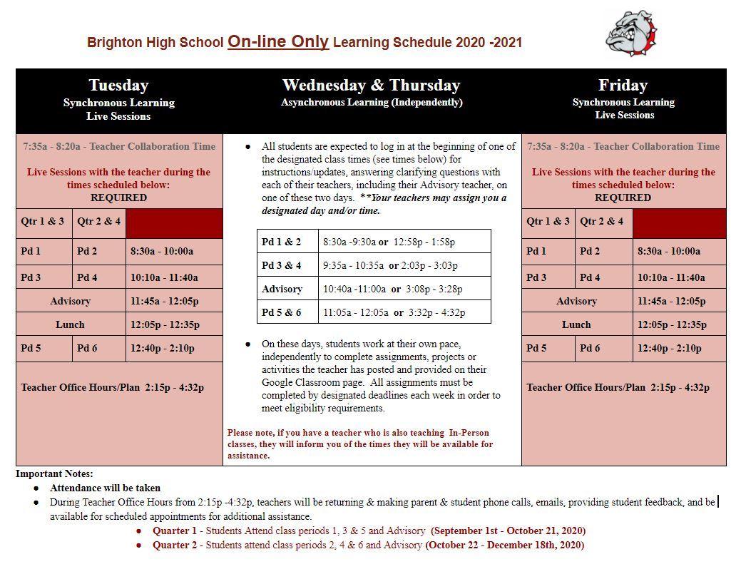 Brighton School Calendar 2021-2022 Pictures