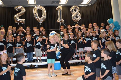 Kindergarten students graduate to first grade next year at Reunion.