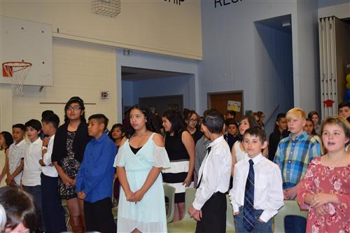 South Fifth graders will move onto middle school.