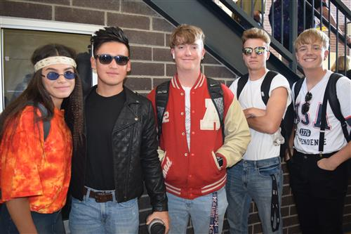 Students dress for the decades during Spirit Week at PVHS.