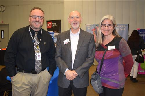 Dr. Chris Fiedler meets with members of the Adams County Education Consortium