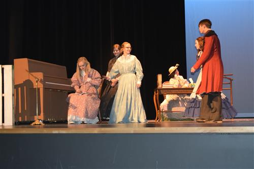 "Four sisters in ""Little Women"" wait for the war to end."