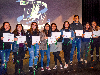 pvhs students hold their seal of biliteracy certificates