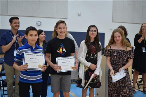 Quist students of the year honored.