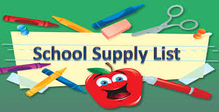 19/20 School Supply Lists